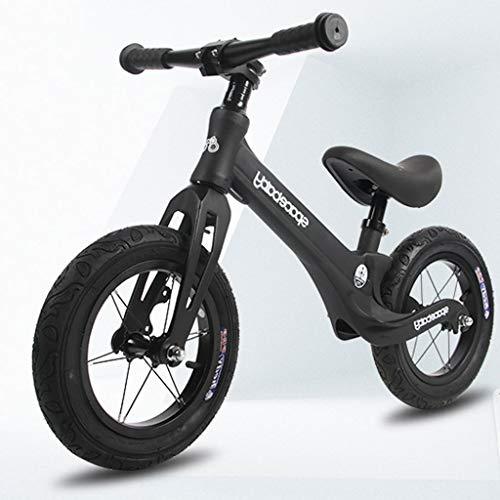 Kinder Laufrad Stride-Fahrrad, Kein Pedal-Wandern Bike, Baby-Trainings-Fahrrad for Kind Baby 2-6 Jahre Alt, Verstellbarer Lenker/Seat Balance Bike (Color : Black)