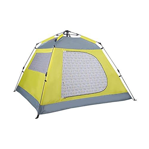 ZSP Carpas Tienda de campaña Familiares de 3-4 Personas, Tienda automática de Camping de Apertura rápida, Tiendas turísticas de la Playa de protección Solar a Prueba de Lluvias Tienda al Aire Libre