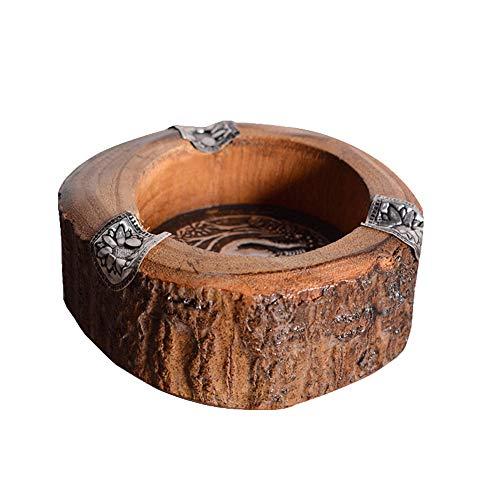 CLLC Asbak - Handgemaakte massief hout houten woonkamer salontafel home asbak creatieve retro