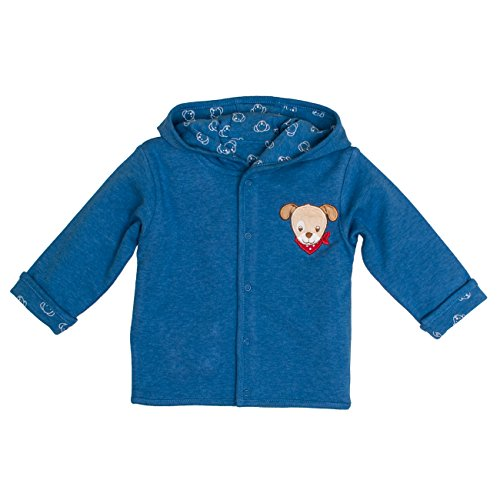 SALT AND PEPPER Salt & Pepper Baby-Jungen BG Jacket Allover reves. Jacke, Blau (Blue Melange 455), 68