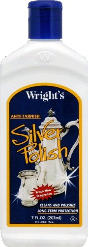 Wright's Silver Polish Anti-tarnish By Weiman 7 Oz / 207 Ml (Pack of 2)