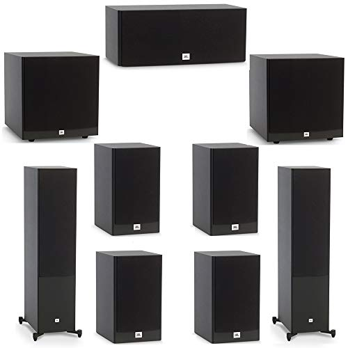 Buy Discount JBL 7.2 System with 2 JBL Stage A190 Floorstanding Speakers, 1 JBL Stage A125C Center S...