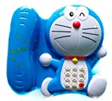 Akki World™ Cartoon Doremon Learning Telephone Musical Toy for Kids - Color Sky Blue -Battery Not Included