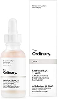The Ordinary Lactic Acid 5% + Ha 2% 30ml - A Mild Lactic Acid Superficial Peeling Formulation (Pack of 2)