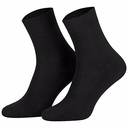 Star Socks Germany 10 Paar schwarze Damen-Socken 100prozent Baumwolle (35-38, schwarz)
