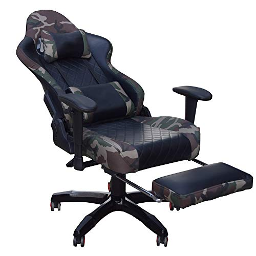 Sebastianee Massage game chair, high-back swivel chair, racing PU leather computer game chair, with tiltable home office chair, with headrest and lumbar support