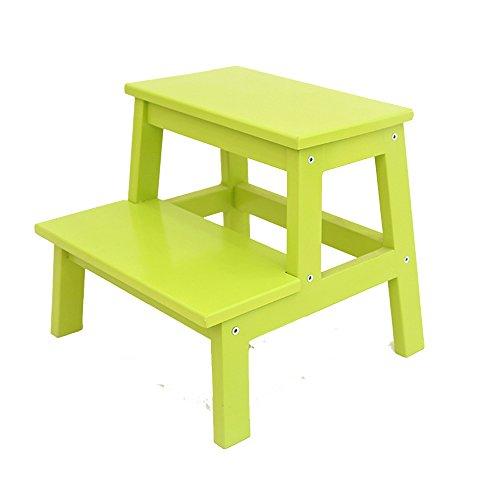 XIA&Tabourets Tabouret d'échelle en bois solide/tabouret d'enfants/échelle de ménage escabeau/changement de porte tabouret de chaussures (4 couleurs facultatives) tabouret extérieur