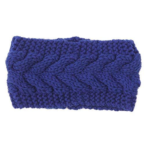 Effen Breien Wollen Hoofdband Winter Warm Oor Gehaakte Turban Haaraccessoires Voor Vrouwen Meisje Haarband Hoofdwraps 15 15