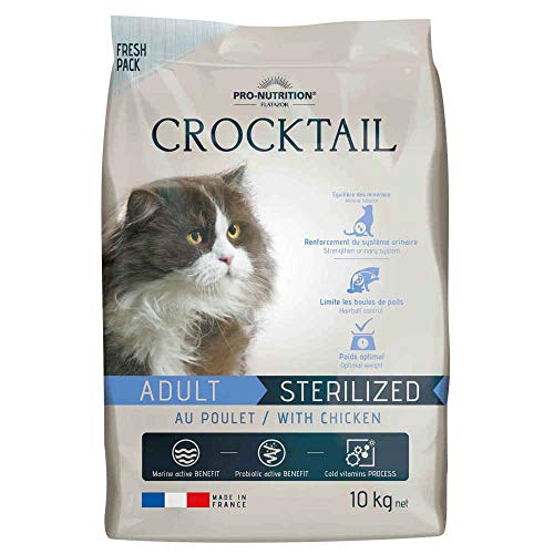 Flatazor - Croquettes CROCKTAIL Sterilized au Poulet pour Chat - 10Kg