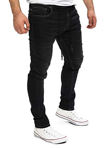 Yazubi Homme Jean Pantalon De Sport Erik- Sweatpants Jogging Joggings pour Homme, Noir (Black Meteorite194008), W33/L32
