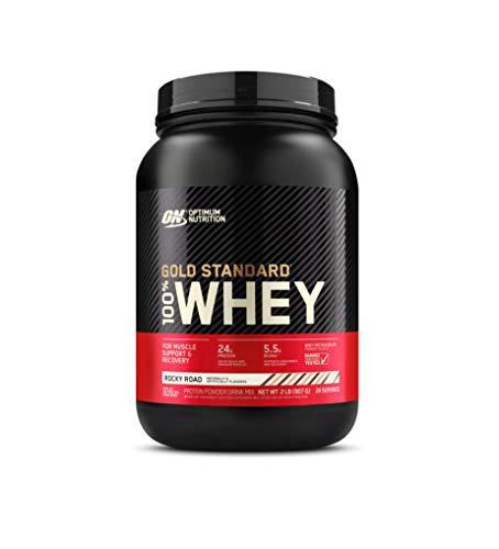 Optimum Nutrition Gold Standard 100% Whey Protein Powder, Rocky Road, 2 Pound