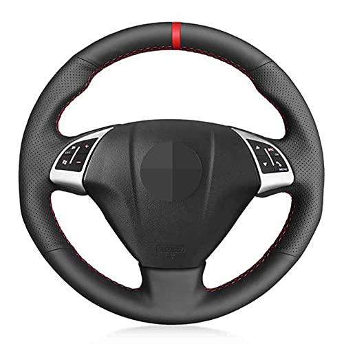 JIERS Cubierta del Volante del Coche Cubierta de Volante de Cuero Cosida a Mano, para Fiat Grande Punto Bravo Linea 2007-2019 Qubo Doblo, para Opel Combo