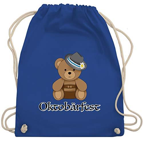 Shirtracer Oktoberfest & Wiesn Kind - Oktobärfest Teddy - Unisize - Royalblau - turnbeutel teddy - WM110 - Turnbeutel und Stoffbeutel aus Baumwolle
