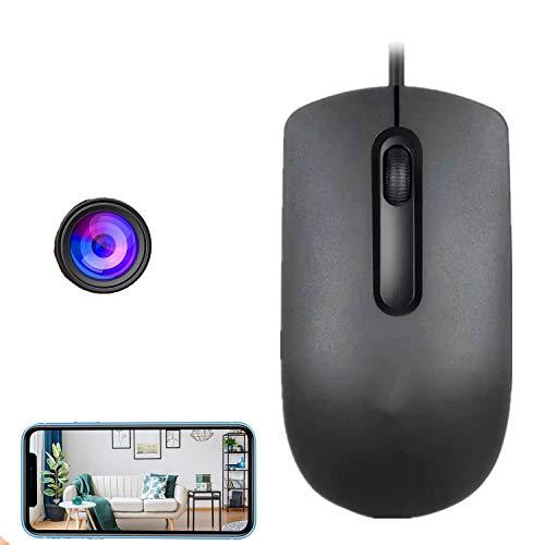 GEQWE Ratón con Cámara Espía WiFi, Cámara Oculta Inalámbrica HD 1080P, Batería De Larga Duración, Mini Cámara De Conversión En Tiempo Real, con Cámara De Vigilancia De La Aplicación