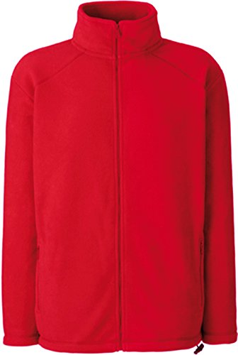 Fruit of the Loom Full Zip Fleece Rot XL