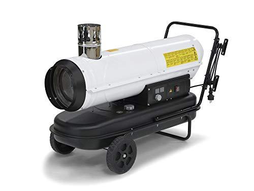 TROTEC Ölheizgebläse Heizkanone IDE 30 Ölheizer Ölbeheizung Heizer (30 kW Heizleistung) inkl. externes Thermostat und Verlängerungskabel(20m)