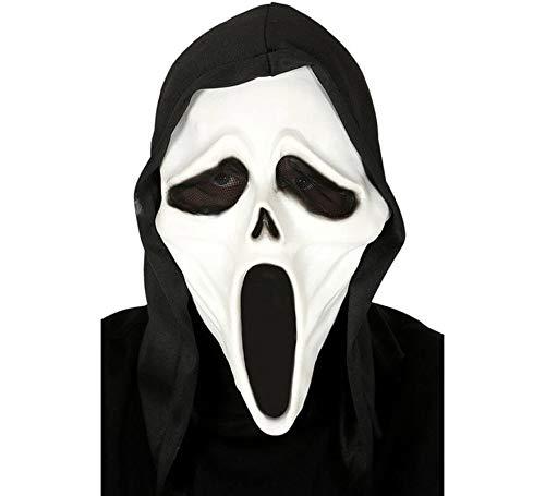 Guirca Scream Ghostface Maske aus Latex mit Kapuze