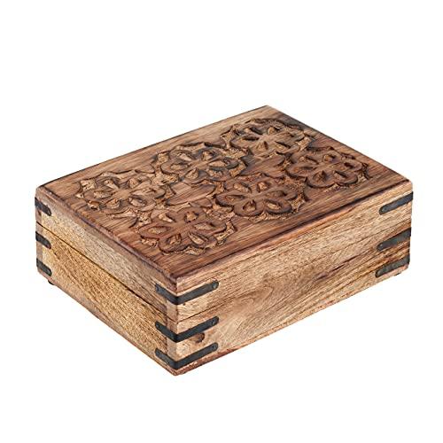Decorative Wooden Treasure Box W...