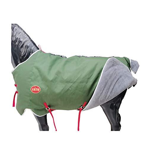 MaJu Reitsportbedarf Pferdedecken Pferd Samt Reiseteppich-grün(Size:135cm)