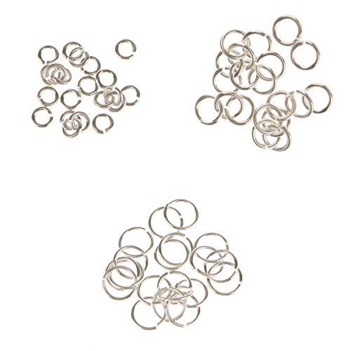 Dailymall 60x Sterling Silver 3mm 4mm 6mm Split Open Jump Rings (Link Jewlery Charms)