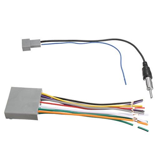 Alamor Voiture Stéréo Radio Lecteur Fil Harnais DVD Antenne pour Honda Odyssey/Civic CR-V