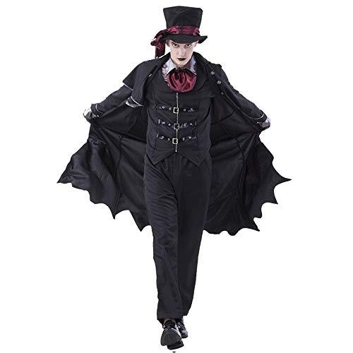 CAGYMJ Halloween Hombres Y Mujeres Ropa Party,Vampiro Diablo Caballero Pareja Pantalones Disfraz,Oktoberfest Actuaciones Fiestas,Man,L