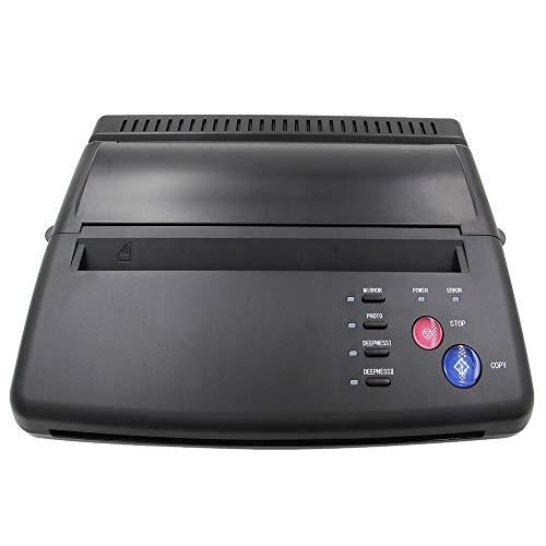Tattoo Transfer Stencil Machine, CINRA Black Tattoo Transfer Printer Machine Thermal Stencil Copier Printer with Tattoo Transfer Paper for Tattoo Supplies
