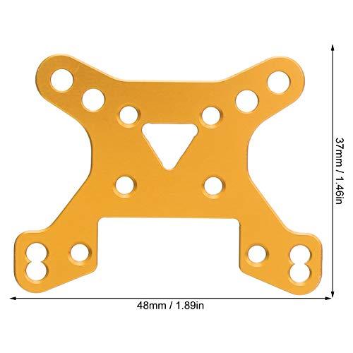 Alomejor RC Car Front Stoßdämpferplatte Aluminiumlegierung Front Dämpfungsplatte Passend für Wltoys 144001 1/14 RC Car Ersatzteile(Gelb)