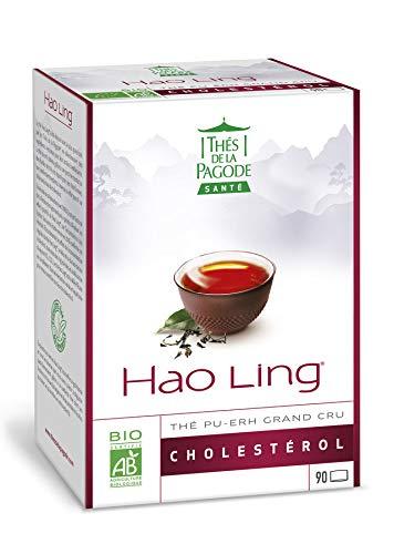 Thés de la Pagode - HAO Ling Té | Tamaño práctico y económico - 90 infusiones | Regula el colesterol