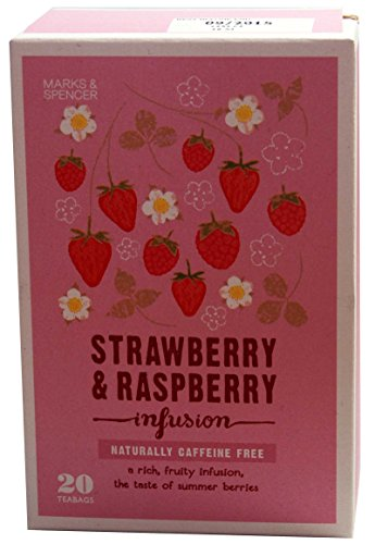 Marks & Spencer Strawberry & Raspberry Infusion - 20 Teabags (from the UK)