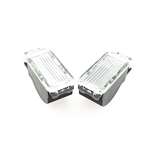 PANEL WHITE DE LA PUERTA DE ADMINISTRACIÓN Lámparas de troncal de advertencia Compatible con A3 A4 B6 B7 B8 A5 A6 C6 C7 A7 A8 Q3 Q5 Q7 TT SEAT LEON IBIZA ALHAMBRA ( Emitting Color : 2p white light )