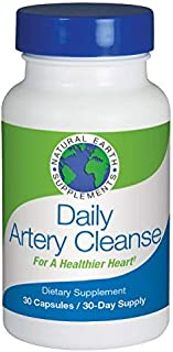 Daily Artery Cleanse Supplements for Heart Health Support, addresses high Cholesterol and Triglycerides and Your Risk of Heart Problems. Helps Clean and Protect Arteries 30 Day Supply