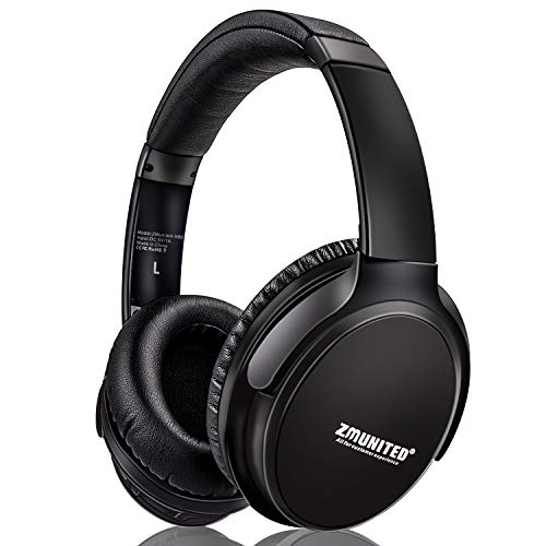 ZMunited Active Noise Cancelling Headphones, Bluetooth 5.0 Headphones Wireless Over Ear with Mic Deep Bass HiFi Stereo, 30H Playtime, Comfortable Protein Earpads, for Travel Cellphone PC TV