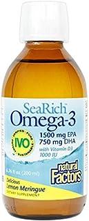 Natural Factors - SeaRich Omega-3, EPA 1500mg, DHA 750mg, with Vitamin D, Lemon Meringue 40 Servings (6.76 oz)