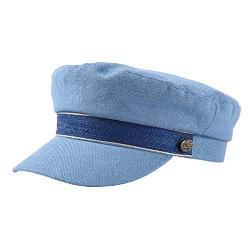 militair muts vintage vrouwen hoed platte pet military cap lente herfst mode solide kleur flat top military hoed jonge studentenhoed vrouwelijk