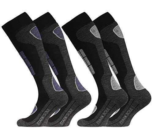 VCA 2 pares Original Función Esquí Calcetines, Calcetines Deportivos de invierno con especial acolchado