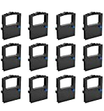 BIGGER 12-Pack Compatible Printer Ribbons Replacement for Okidata 52102001 Black Ribbon Used for Microline 320 321 Turbo Printers, Microline 100 Series