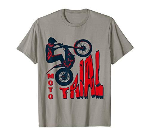 Hombre Moto Trial - Trial Bike - Motociclista - Bike Trial Camiseta