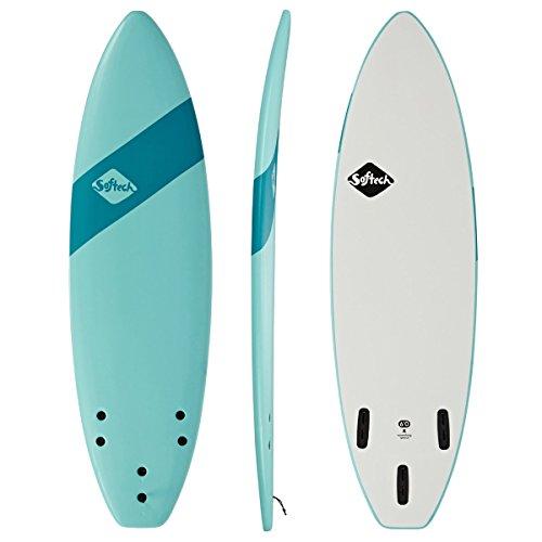 Softech Softtech Handshaped Original FCS II Shortboard Surfboard 6ft Soft Sky