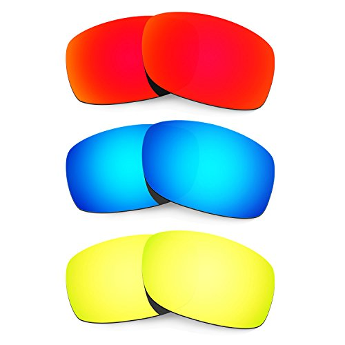 HKUCO Mens Replacement Lenses for Oakley Fives 3.0 Sunglasses - 3 Pair