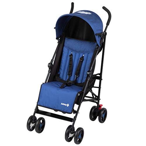Safety 1st Rainbow Silla de Paseo ultraligera pesa solo 6,6 kg, Plegable y compacta, Reclinable de multi posiciónes, reposapiés adjustable, color blue Chic 🔥