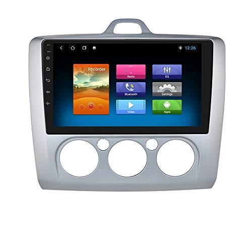 9 Pulgadas Android 10 Navegación para automóvil Autoradio Estéreo Soporte Bluetooth WiFi MirrorLink Ajuste para Ford Focus Exi MT 2 3 MK2 / MK3 2004 2005 2006 2007 2008 2009 2010 2011 (Plata)
