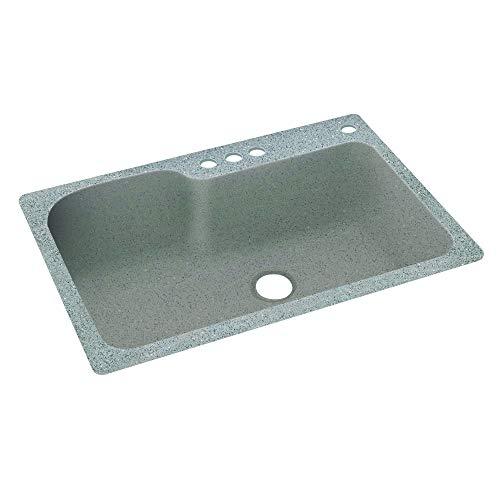 "Swanstone KS03322SB.124-4 4-Hole Solid Surface Kitchen Sink, 33"" x 22"", Canyon"