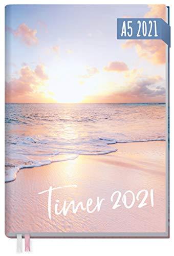 Chäff-Timer Classic A5 Kalender 2021 [Traumstrand] mit 1 Woche auf 2 Seiten | Terminplaner, Wochenkalender, Organizer, Terminkalender mit Wochenplaner | nachhaltig & klimaneutral