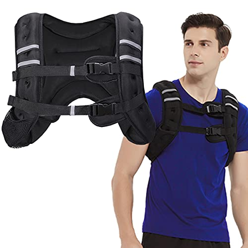 BITLIFUN Weighted Vest for Men Workout,Strength Training Weight Vest for Men and Women, Workout Equipment for Training,Running,Jogging,etc - Black,12lbs