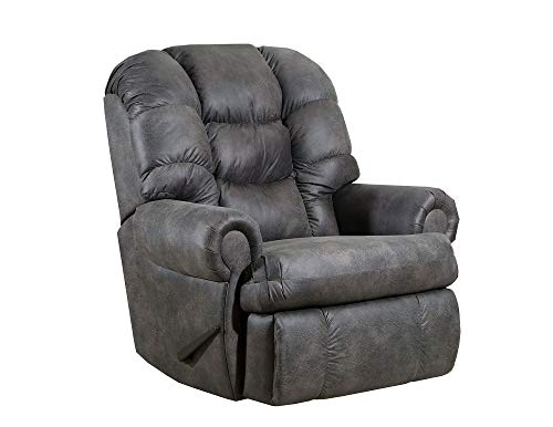 Lane Stallion Big Man (Extra Large) Comfort King Wallsaver Recliner in Dorado Charcoal. Made for The Big Guy Or Gal. Rated for Up to 500 Lbs. Extended Length. 79
