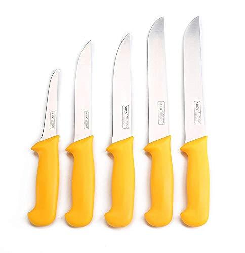 Shov Juego de 5 cuchillos de carnicero,...