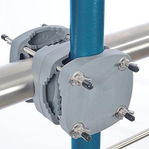 4smile SunnyDay Support de parasol pour balcon rectangulaire jusqu'à 210 x 150 cm, rond jusqu'à 270 cm – Support compact pour parasol de balcon