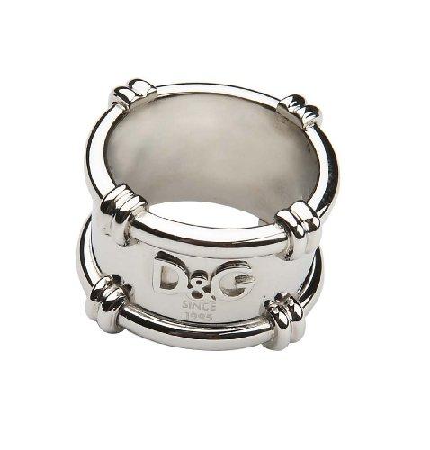 Dolce & Gabbana Dolce&Gabbana DJ0922 - Anillo de Hombre de Acero Inoxidable (Talla: 23)