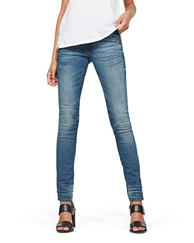 G-STAR RAW Damen Lynn Mid Waist Skinny' Jeans, Blau (medium Aged...